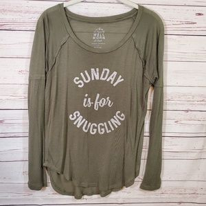Sunday is for Snuggling Tissue Tee Small Graphic